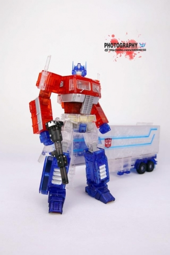 Transformer Toy Non-brand Masterpiece MP10C Optimus Prime Clear Version with Trailer