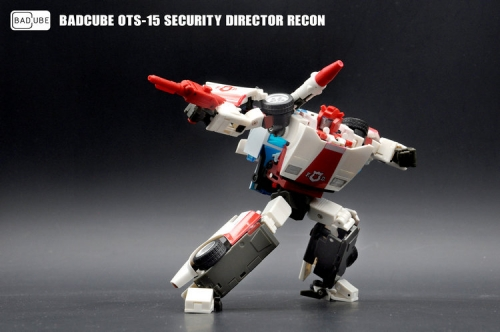 Transformer Toy BadCube BC OTS-15 OTS15 Security Director Recon Red Alert