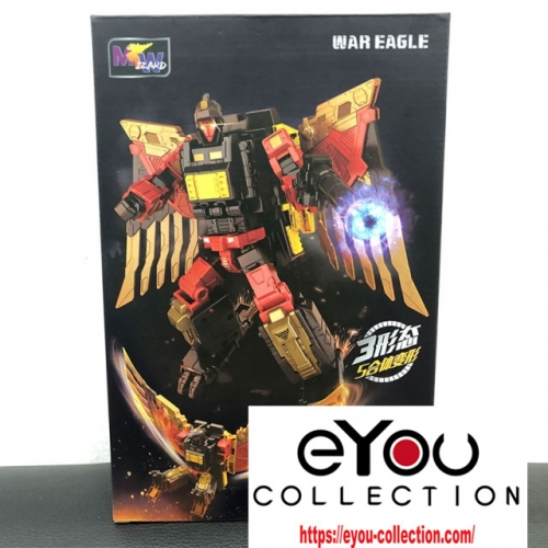 Transformer Toy Weijiang Wei Jiang WJ Combination mode POTP Feral Rex Predaking-Sky Soarer-War Eagle