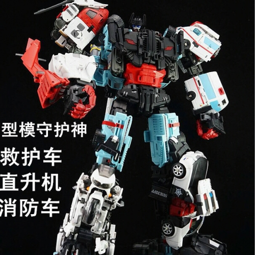 "45cm/17.7"" Tall Transformer Combiner Yes Model Oversized OS Defensor set of 4 figures limbs"