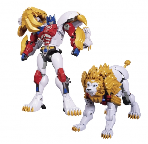 Takara Tomy Masterpiece MP-48 MP48 Beast War Lion Convoy Optimus Prime BW2
