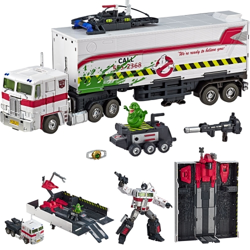 Transformer TAKARA TOMY HASBRO Ghostbusters MP-10G MP10G ECTO-35 Optimus Prime  With Trailer SDCC Exclusive Version